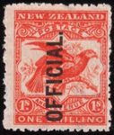 1907 1/- OFFICIAL.  UNMOUNTED MINT