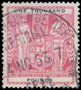 1931 1,000 Pounds Arms (top value)