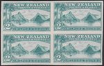 2/- Milford Sound Imperf Proof block of 4