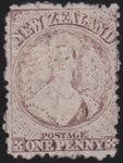 1873 1d Brown. Star Wmk. Unused.